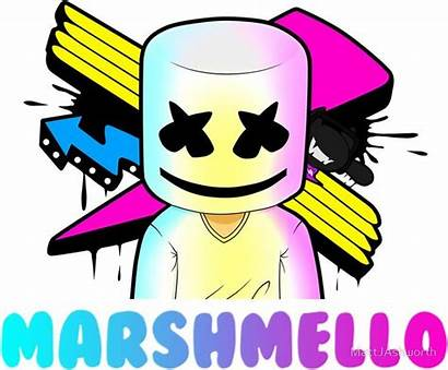Marshmello Sticker Marshmallow Dj Coloring Pages Colouring