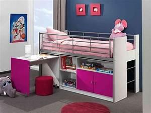 Lit Bureau Enfant : lit mezzanine avec bureau enfant ~ Teatrodelosmanantiales.com Idées de Décoration