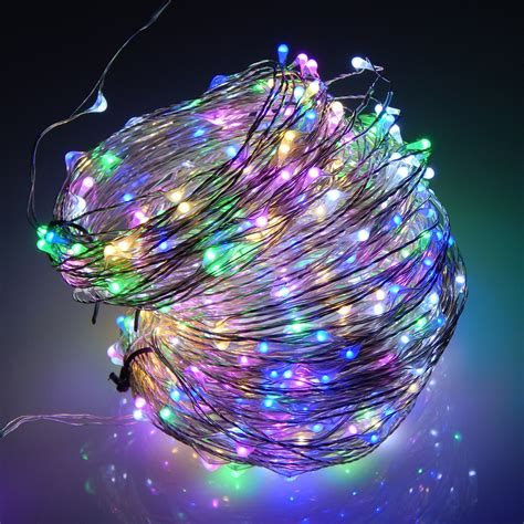 50m 500 leds silver wire warm white led string light