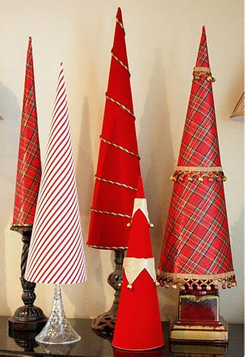 exchange fabric covered poster board christmas tree