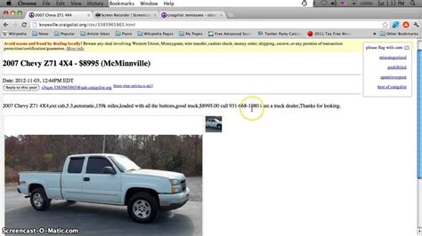 Used Cars For Sale By Owner Knoxville Tn Craigslist Chilangomadrid Com