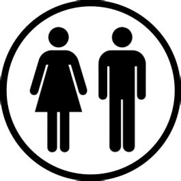 unisex toilet sign sticker gizmo