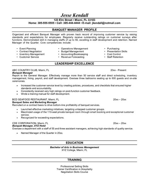Banquet Captain Resume Sle by Primary School Pe Resume Sales Lewesmr