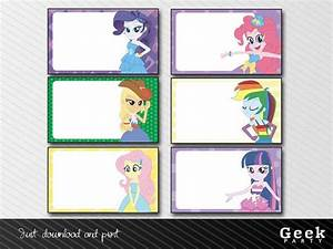 My Little Pony Equestria Girls Labels
