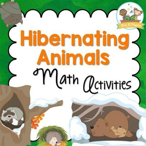 hibernating animals math pre k pages 413   Hibernation Theme Math Activities for Preschool and Kindergarten