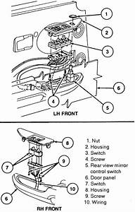 1998 Ford F 150 Mirror Detailed Diagram