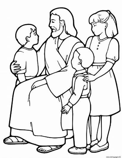 Jesus Coloring Children Pages Printable Prints