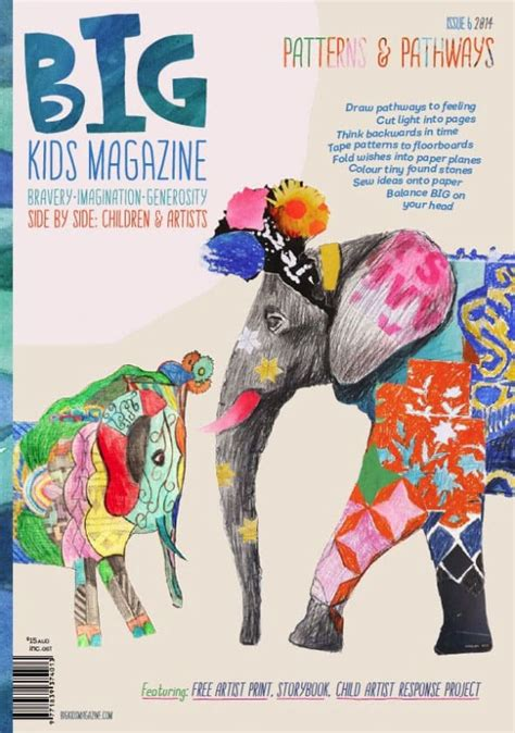 big kids magazine art  kids  grown ups