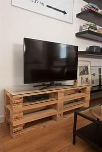 Idee Meuble Tv Fait Maison : meuble en palette le guide ultime mis jour 2019 id es palette et f t pallet tv stands ~ Melissatoandfro.com Idées de Décoration