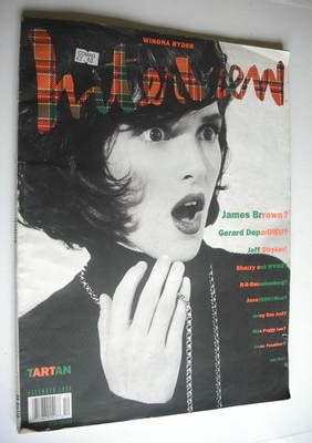 interview magazine december  winona ryder cover