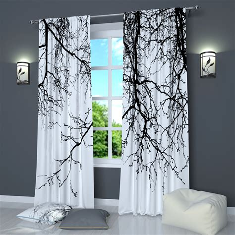 window curtains black  white curtains  factoryme