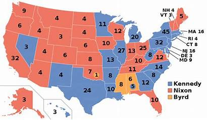 Election Presidential Results 1960 Last Maps Showing
