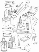 Coloring Pages Makeup Printable Cosmetic Print Getcolorings Recommended Doll Colorings sketch template