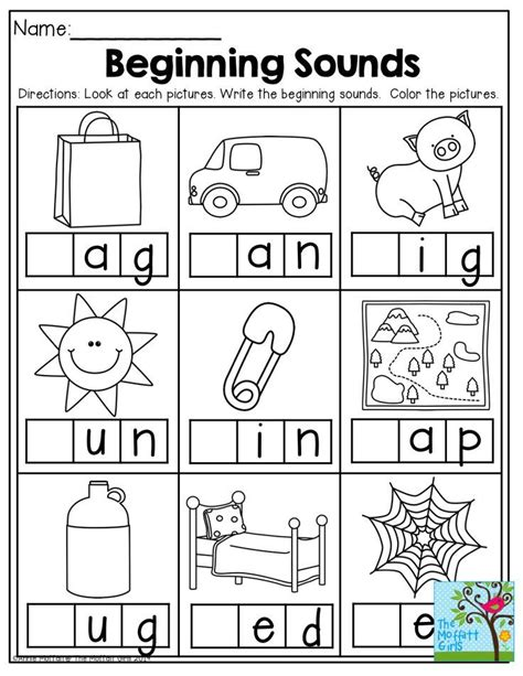 worksheets for kindergarten sounds beginning sounds and so many other great printables for
