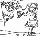 Coloring Pages Hula Drawing Hawaiian Hoop Dance Performing Getcolorings Sky Coloringsky sketch template