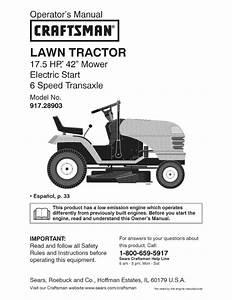 Craftsman Garden Tractor Parts Craftsman Push Or Self
