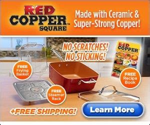 red copper square pan    tv cathy mitchell square pan