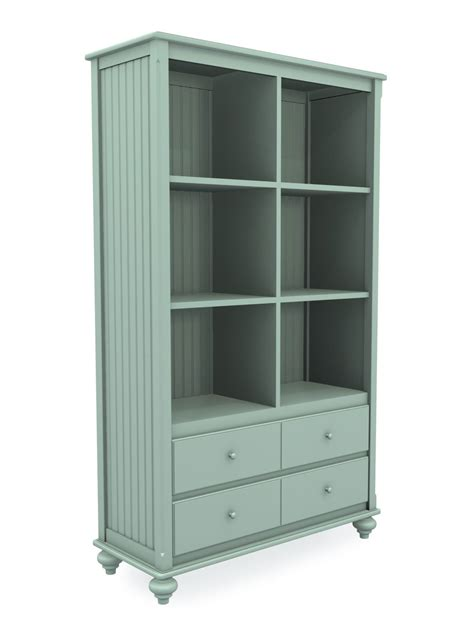 Wide Bookcase With Drawers by Wide Cottage Cubbie Bookcase With Two Drawers