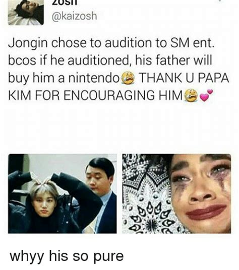 Sm Meme - zosit kaizosh jongin chose to audition to sm ent bcos if he auditioned his father will buy him a