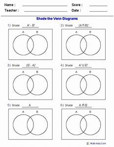 This Venn Diagram Worksheet Is A Great Template Using Two Sets  Use It For Practicing Venn