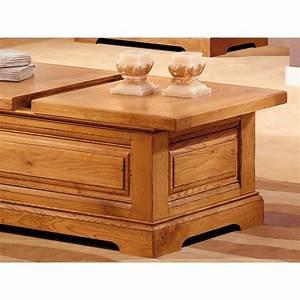 Table Chene Massif Rustique : table basse coffre bar en ch ne massif ~ Teatrodelosmanantiales.com Idées de Décoration