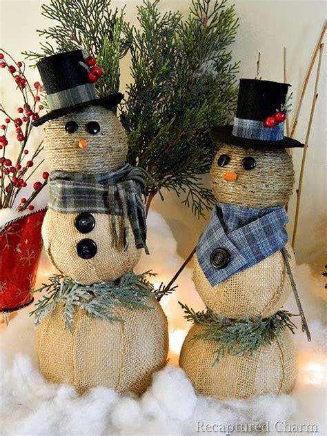 simple snowmen ideas   holiday decor