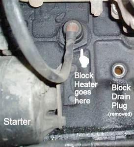 F250 Block Heater Location