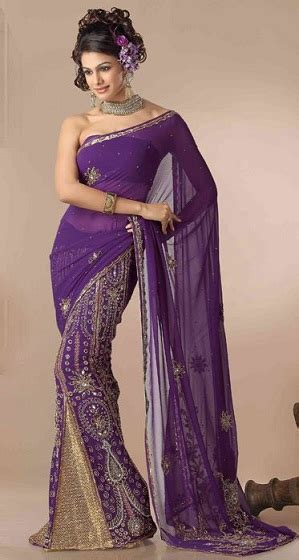 purple sarees feel   queen    designs