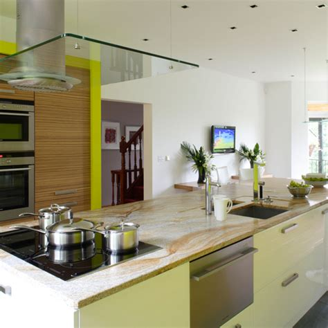 modern green kitchen green kitchen colour ideas home trends ideal home 4202