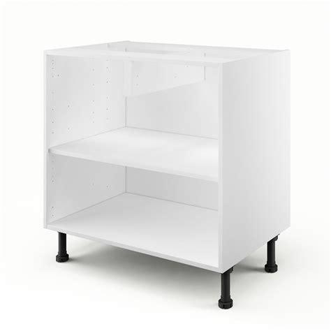 caisson de cuisine bas b80 delinia blanc l 80 x h 85 x p