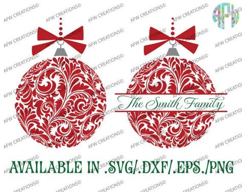 Christmas Ornament Name Svg  – 54+ SVG File for DIY Machine