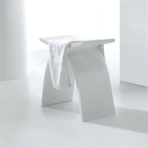 siege castorama tabouret siège de salle de bain 42x23cm composite blanc