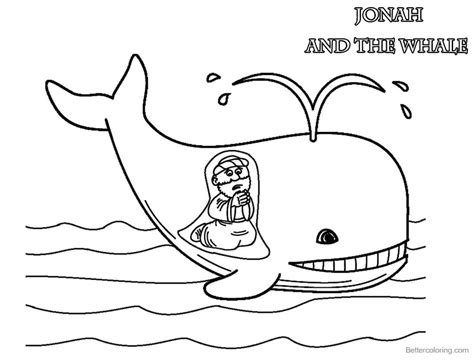 jonah and the whale coloring page coloring pages of jonah and the whale free
