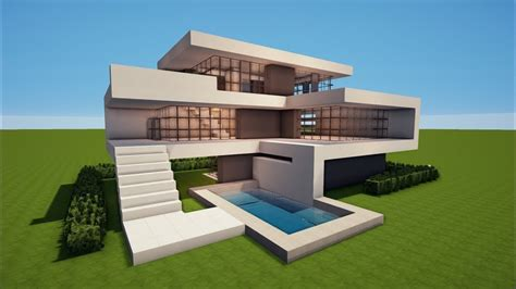 minecraft   build  modern house  house
