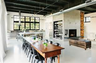 Wooden Kitchen Island Table Key Traits Of Industrial Interior Design