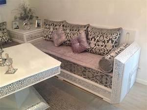Salon Marocain Blanc : d coration salon marocain beldi riad vente de salon ~ Nature-et-papiers.com Idées de Décoration
