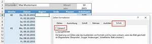Excel Alter Berechnen Aus Geburtsdatum : kalenderwoche aus datum berechnen newcalendar ~ Themetempest.com Abrechnung