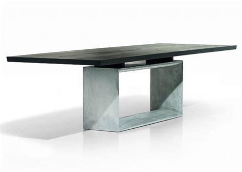 Esstisch Fuß Mittig by Tisch Quot Frame Quot Mit Beton Sockel Sch 214 Ner Wohnen