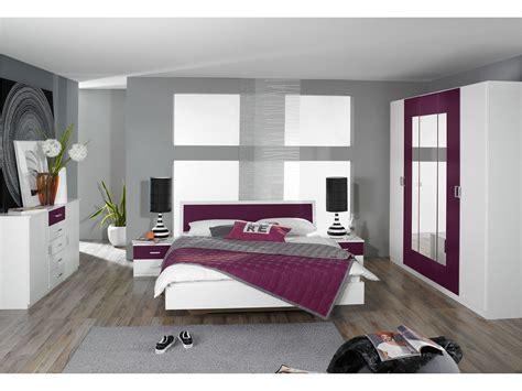 chambre grise et prune déco chambre prune et gris