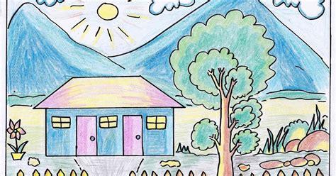 diwarnai mewarnai gambar rumah sederhana