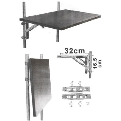 plan de travail pliable cuisine equerre pliable en inox pour table chaise aménagement
