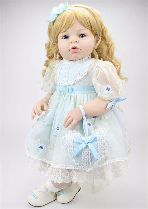 boneca reborn menina loira silicone  cm   em