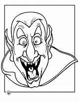 Coloring Scary Pages Vampire sketch template