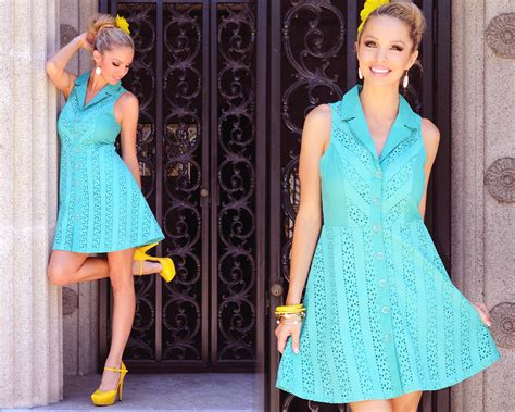 Pink Basis Blue Dress, Ross Yellow Heel