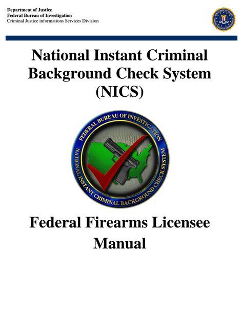 national instant criminal background check system nics