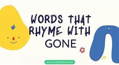 Words Gone Rhyme Rhymes
