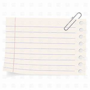 Notebook paper sheet and paperclip Royalty Free Vector ...