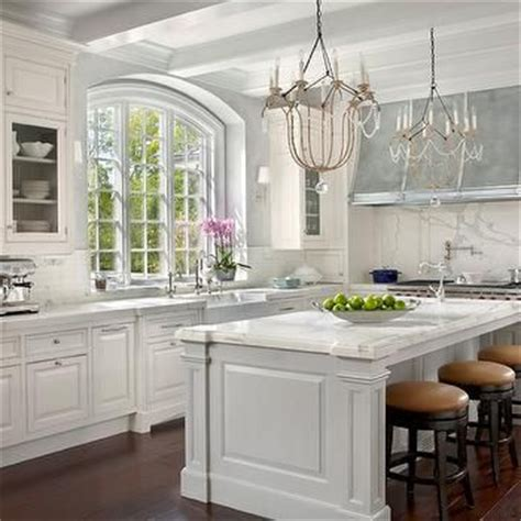 modern french kitchen  white kitchen cabinets paired