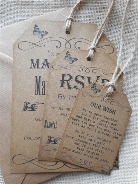 vintage style luggage tag wedding evening party