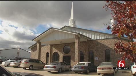 wynona church members gather   building  years  arson news
